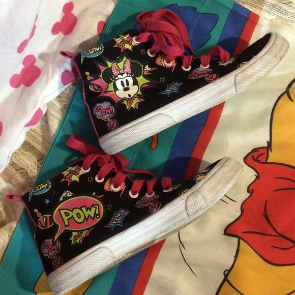 Disney Shoes - Disney Parks Minnie Mouse High Top Shoes Disney 5